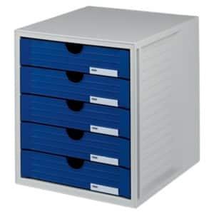 han schubladenbox kunststoff lichtgrau blau 27 5 x 33 x 32 cm viking deutschland. Black Bedroom Furniture Sets. Home Design Ideas