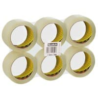Scotch Paketband Low Noise 48 mm x 66 m Transparent 6 Rollen