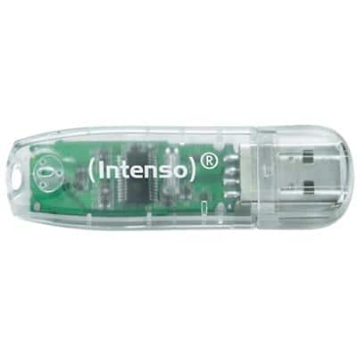 Intenso USB-Flash-Laufwerk Rainbow Line Transparent