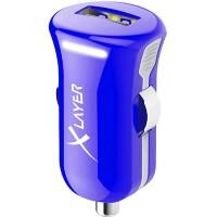 XLAYER 214106 USB-Autoladegerät-Adapter Blau