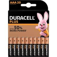 Duracell AAA Alkali-Batterien Plus Power LR03 1,5 V 20 Stück