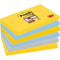 Post-it Super Sticky Haftnotizen 127 x 76 mm New York Collection Farbig sortiert 6 Blöcke à 90 Blatt