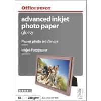 Office Depot Tintenstrahl-Fotopapier Advanced Glossy 280 g/m² A4 50 Blatt