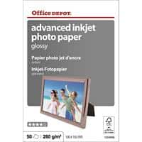 Office Depot Tintenstrahl-Fotopapier Advanced Glossy 280 g/m² 10 x 15 cm 50 Blatt