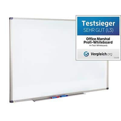 Office Marshal Whiteboard Profi Lackiert Weiß 30 x 45 cm