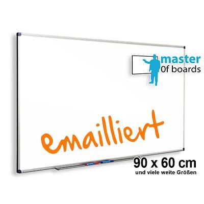 Master of Boards Whiteboard Premium emailliert Weiß 90 x 60 cm