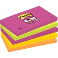 Post-it Super Sticky Haftnotizen 127 x 76 mm Kapstadt Collection Farbig sortiert 5 Blöcke à 90 Blatt
