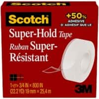 Scotch Super-Hold Klebeband 19 mm x 25,4 m Transparent Superstark