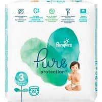 Pampers Windeln Pure Protection Midi Size 3 20,4 x 11,5 x 21,3 cm 22 Stück