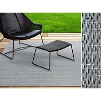 Outdoor-Teppich Casa Pura Geona Grau Vinyl, PET 1800 x 4000 mm