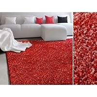 Hochflorteppich Floordirekt STEP Bali Rot Polypropylen 2000 x 3000 mm