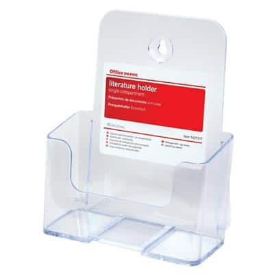 Office Depot Tischaufsteller DIN A5 Transparent Kunststoff 16,5 x 9 x 23,2 cm