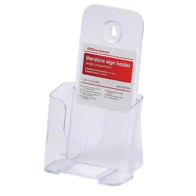 Office Depot Tischaufsteller 1/3 DIN A4 Transparent Kunststoff 11,3 x 8 x 20,7 cm