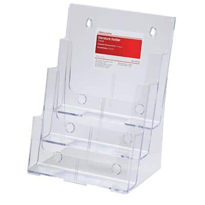 Office Depot Tischaufsteller DIN A4 Transparent Kunststoff 23 x 16 x 32 cm