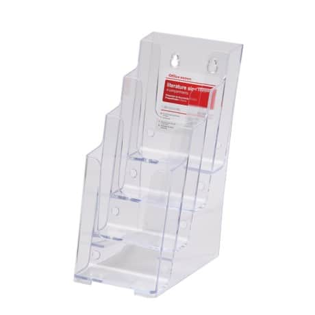 Office Depot Tischaufsteller DL Transparent Kunststoff 108 x 254 x 254 mm