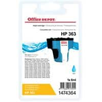 Kompatible Office Depot Tintenpatrone HP 363 C8771EE Cyan