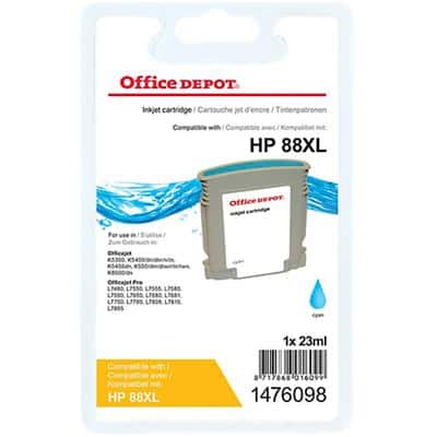 Kompatible Office Depot HP 88XL Tintenpatrone C9391A Cyan
