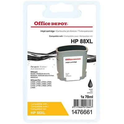 Kompatible Office Depot HP 88XL Tintenpatrone C9396A Schwarz