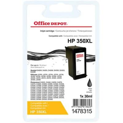 Kompatible Office Depot HP 350XL Tintenpatrone CB336EE Schwarz