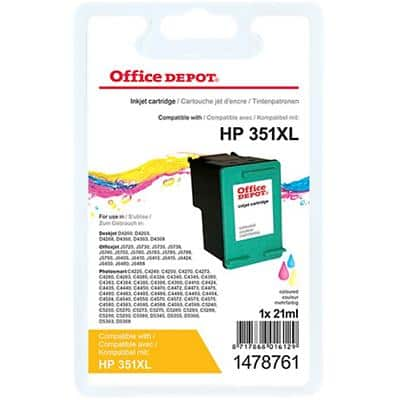 Kompatible Office Depot HP 351XL Tintenpatrone CB338EE 3 Farbig