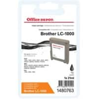 Kompatible Office Depot Brother LC1000BK Tintenpatrone Schwarz