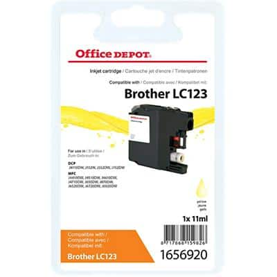 Kompatible Office Depot Brother LC123Y Tintenpatrone Gelb