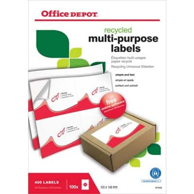 Office Depot Recycling Universaletiketten 400 Stück
