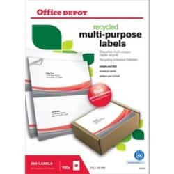 Office Depot Recycling Universaletiketten 200 Stück