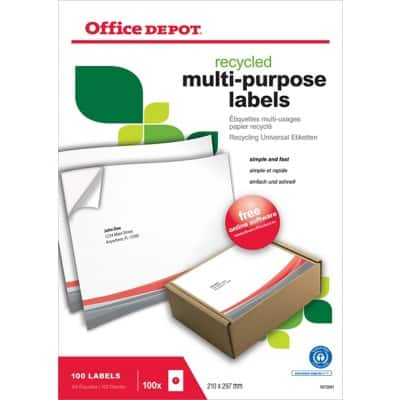 Office Depot Recycling Universaletiketten 100 Stück