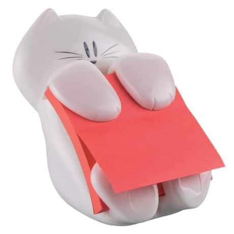 Post-it Haftnotizenspender CAT-330 Weiß 76 x 76 mm 1 Block Super Sticky Z-Notes, mohnrot