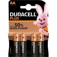 Duracell AA Alkali-Batterien Plus Power LR6 1,5 V 4 Stück
