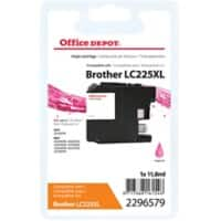 Kompatible Office Depot Brother LC225XL Tintenpatrone Magenta