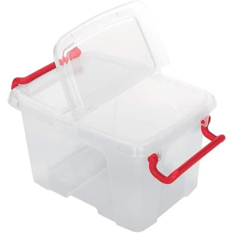 Office Depot Aufbewahrungsbox 6 L Transparent Kunststoff 22 5 X 30 X