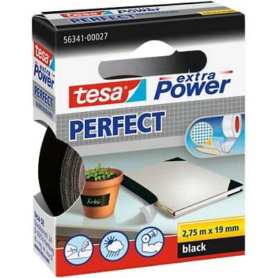tesa extra Power Gewebeband Perfect 19 mm x 2,75 m Schwarz