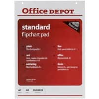 Office Depot Wall Mountable Blanko Flipchart-Papier Perforiert A1 70gsm 40 Blatt
