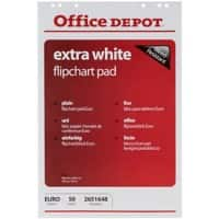 Office Depot Wall Mountable Blanko Flipchart-Papier Perforiert Euro 80gsm 50 Blatt