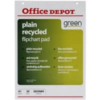 Office Depot Wall Mountable Blanko Flipchart-Papier Perforiert A1 70gsm 20 Blatt