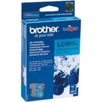Brother LC980C Original Tintenpatrone Cyan