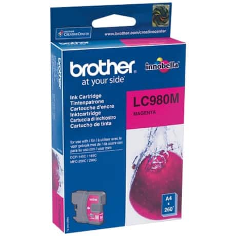 Brother LC980M Original Tintenpatrone Magenta