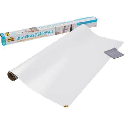 Post-it Wall Mountable Dry Erase Film DEF6x4-EU 121,9 x 182,9 cm Weiß
