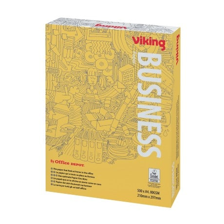 Viking Business Multifunktionspapier DIN A4 80 g/m² Weiß 500 Blatt