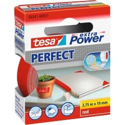tesa extra Power Gewebeband Perfect 19 mm x 2,75 m Rot