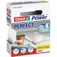 tesa extra Power Gewebeband Perfect 19 mm x 2,75 m Weiß