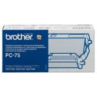 Brother Thermotransferrolle PC75A 23 x 5 x 12 cm Schwarz