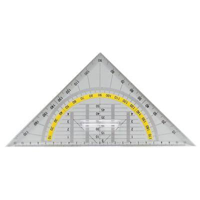 Office Depot Geometriedreieck Transparent 25 cm