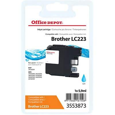 Kompatible Office Depot Brother LC223C Tintenpatrone Cyan