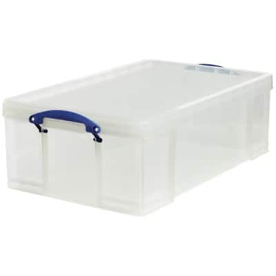 Really Useful Boxes Aufbewahrungsbox 50 l Transparent Kunststoff 71 x 44 x 23 cm