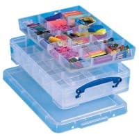 Really Useful Box Aufbewahrungsbox 4CDIVHOB 4 L Transparent Kunststoff 39,5 x 25,5 x 8,5 cm