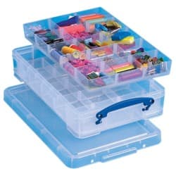 Really Useful Boxes Aufbewahrungsbox 4,0 Liter Transparent Kunststoff 39,5 x 25,5 x 8,5 cm
