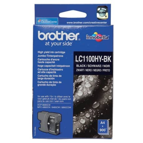 Brother LC1100HYBK Original Tintenpatrone Schwarz
